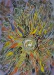 universo fluido astratto image in immagine con forme simili a rami attorno ad un vortice centrale con tanti colori